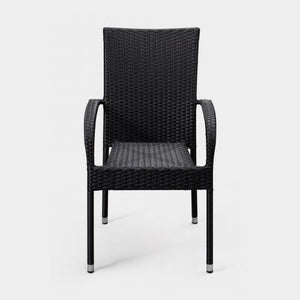 Morgan Outdoor Wicker Chair - Black - Set of 4                                        F63166 - PATIO AND FIREPLACE CONCEPTS