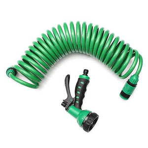 25FT Flexible Portable Expandable Garden Water Hose With Nozzle - PATIO AND FIREPLACE CONCEPTS