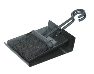 BLACK SHOVEL AND BRUSH SET WITH PAN      B-1006 - PATIO AND FIREPLACE CONCEPTS