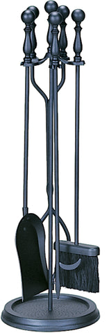 5 PC. BLACK FIRESET WITH BALL HANDLES              F-1625 - PATIO AND FIREPLACE CONCEPTS