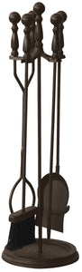 5 PC BRONZE FIRESET WITH BALL HANDLES                                        F-1631B - PATIO AND FIREPLACE CONCEPTS