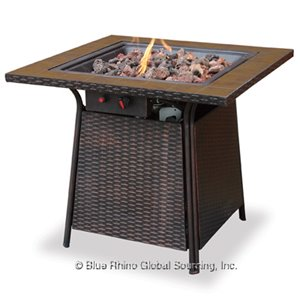 LP GAS OUTDOOR FIREBOWL WITH TILE MANTEL   GAD1001B - PATIO AND FIREPLACE CONCEPTS