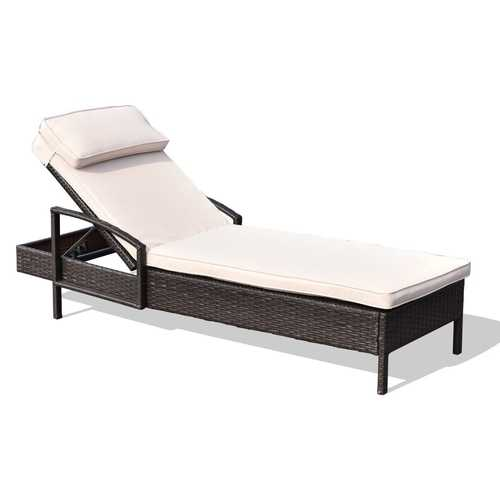 Outdoor Brown Wicker Rattan Sunloungers - PATIO AND FIREPLACE CONCEPTS