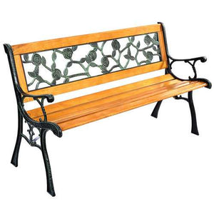 "GOPLUS 49 1/2"" Patio Park Garden Porch Chair Bench - PATIO AND FIREPLACE CONCEPTS"