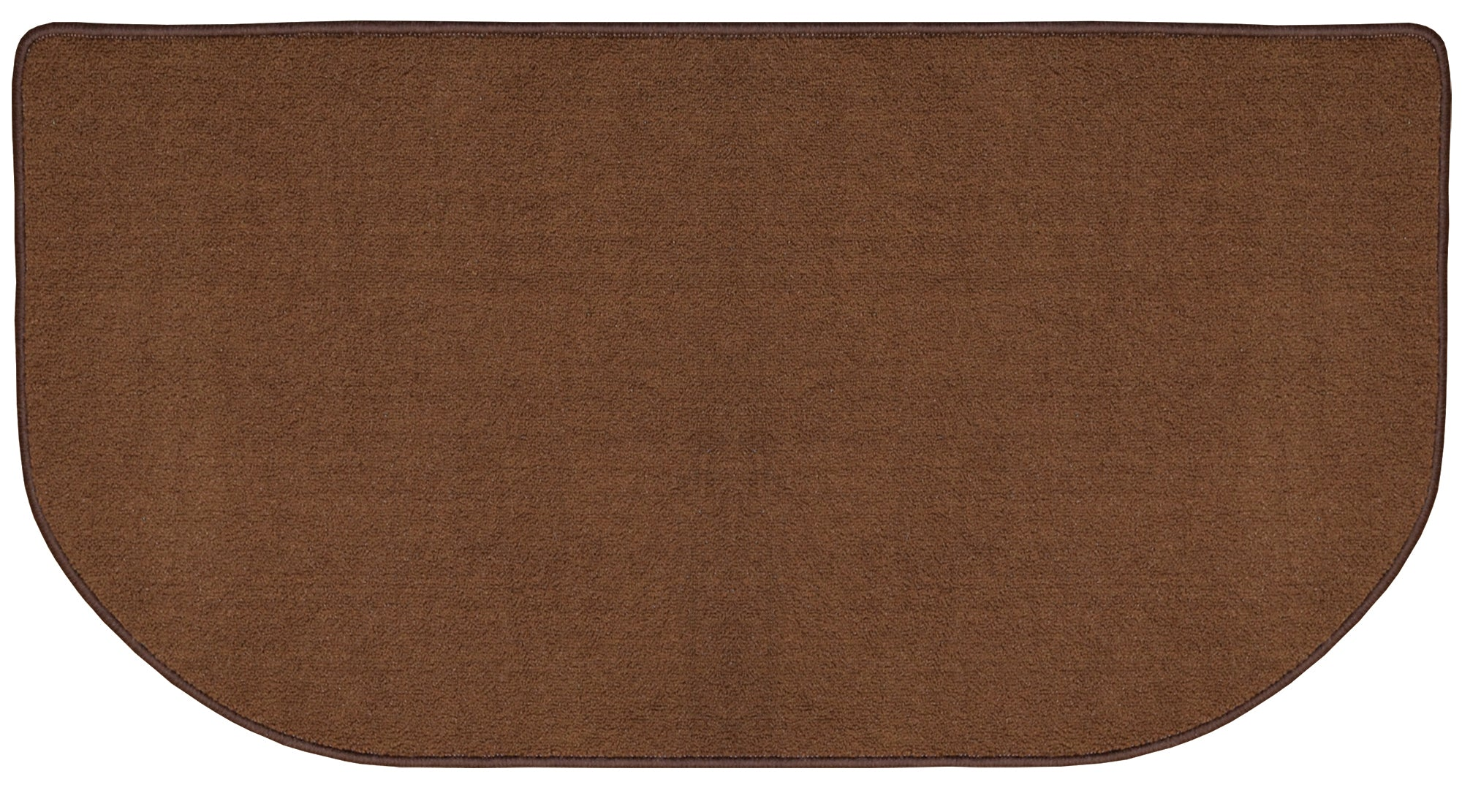 CHOCOLATE COLORED NYLON HEARTH RUG      R-3020 - PATIO AND FIREPLACE CONCEPTS