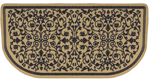 TAN COLORED NYLON HEARTH RUG  R-3050 - PATIO AND FIREPLACE CONCEPTS