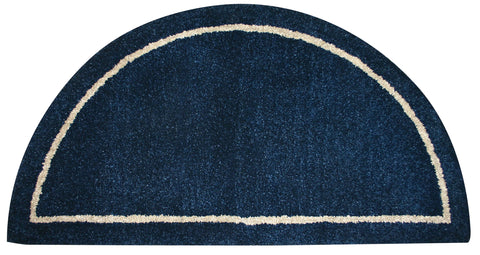 DEEP BLUE HAND-TUFTED 100% WOOL HEARTH RUG       R-4000 - PATIO AND FIREPLACE CONCEPTS