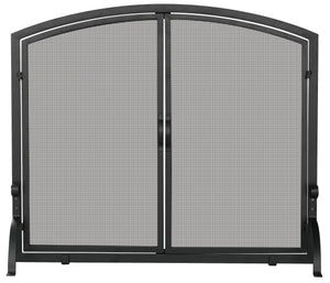 SINGLE PANEL SCREEN WITH DOORS    S-1064 - PATIO AND FIREPLACE CONCEPTS