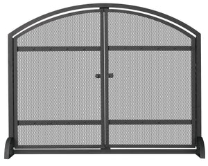 SINGLE PANEL SCREEN WITH DOORS   S-1066 - PATIO AND FIREPLACE CONCEPTS