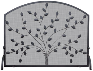 SINGLE PANEL SCREEN W/LEAVES       S-1073 - PATIO AND FIREPLACE CONCEPTS