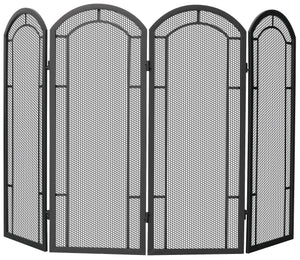 4 FOLD BLACK WROUGHT IRON SCREEN    S-1130 - PATIO AND FIREPLACE CONCEPTS