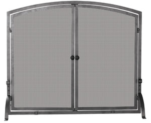 SINGLE PANEL OLDE WORLD IRON SCREEN W/DOORS  LARGE              S-1142 - PATIO AND FIREPLACE CONCEPTS