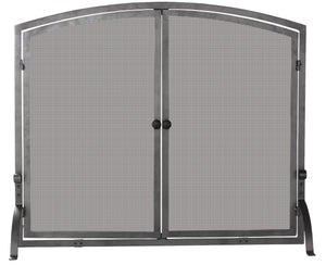 SINGLE PANEL OLDE WORLD IRON SCREEN W/DOORS  MEDIUM                 S-1146 - PATIO AND FIREPLACE CONCEPTS