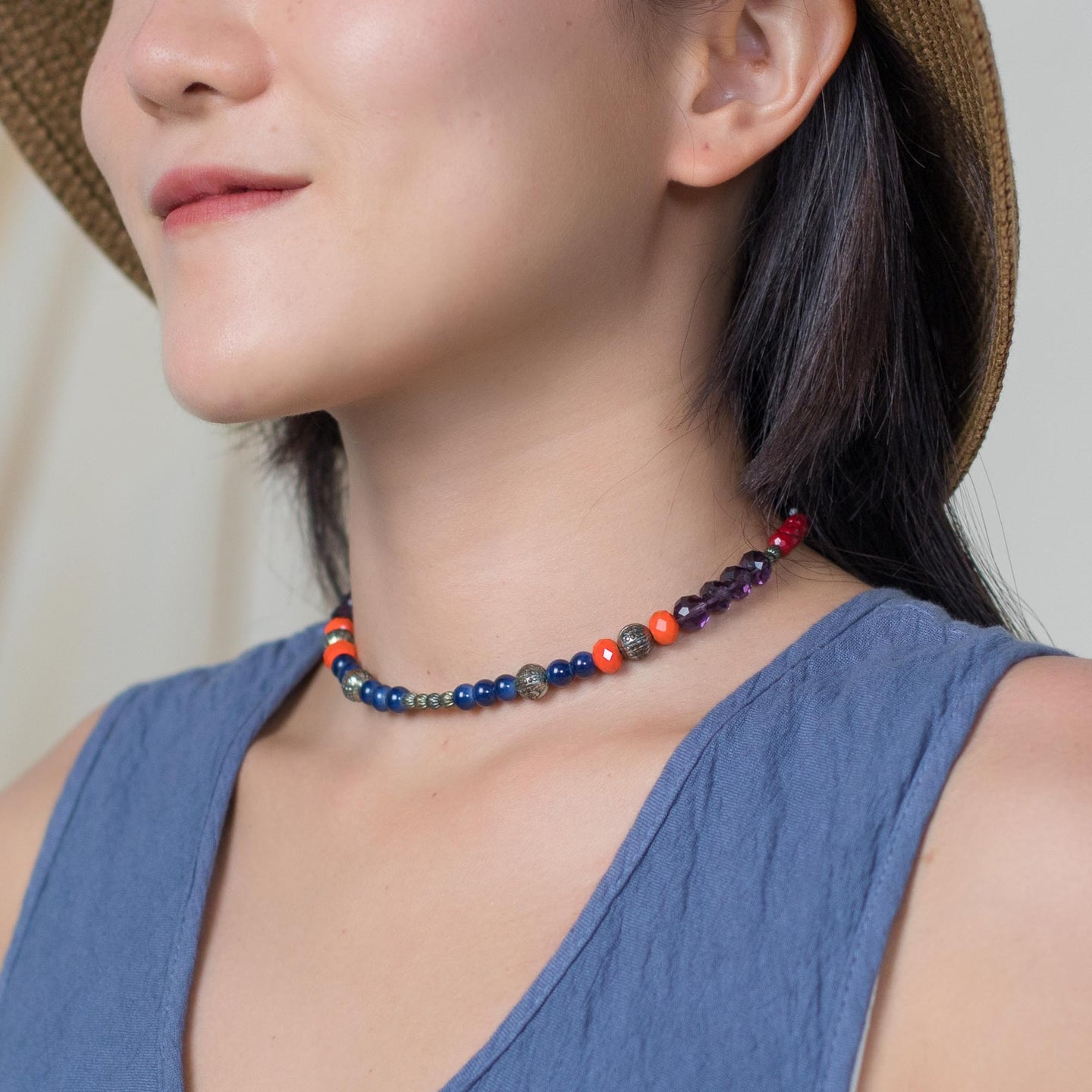 Handmade Beaded Choker
