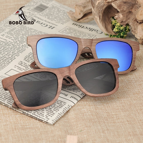 BOBO BIRD Natural Wooden Sunglasses Multicolor Glasses Men and Women Summer Travel Outdoor Driving Sunglasses
