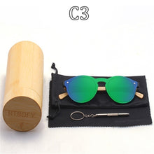 Load image into Gallery viewer, RTBOFY Wood Sunglasses for Women & Men Bamboo Frame Glasses Handmade Wooden Eyeglasses With  Bamboo Gift Case