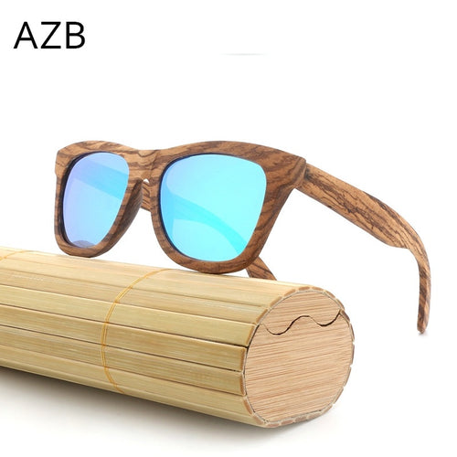 2018 New Bamboo Wooden Sunglasses Retro Wood Glasses Polarized Sunglasses