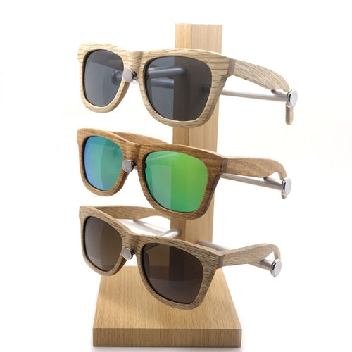 Men Women 100% Handmade Wooden Sunglasses Cute Design Summer Style Glasses