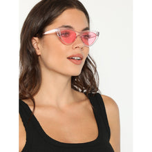 Load image into Gallery viewer, Colored Clear Cat Eye Pink Sunglasses for Outdoor Activities