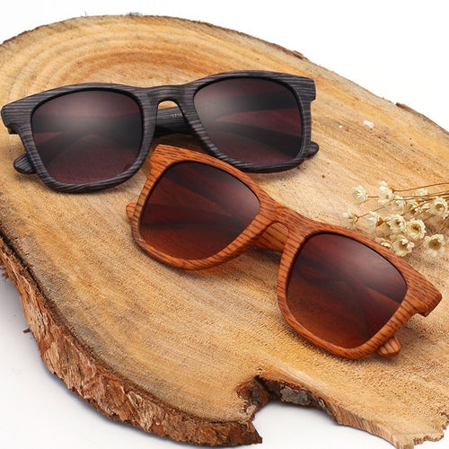 Women's Men's Unisex Wooden Sunglasses Outdoor Casual Wooden Eyewear