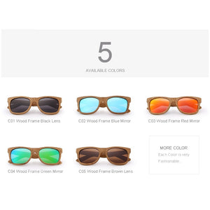 MERRY'S DESIGN Men/Women Wooden Sunglasses Retro Polarized Sun Glasses HAND MADE 100% UV Protection S'5140