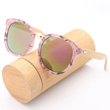 Load image into Gallery viewer, New Brand Women Wooden Sunglasses Classic Luxury Mirrored Glasses with UV400 Protection