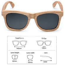 Load image into Gallery viewer, Original Handmade Men Natural Wood Sunglasses 100% Polarized Shades in Case