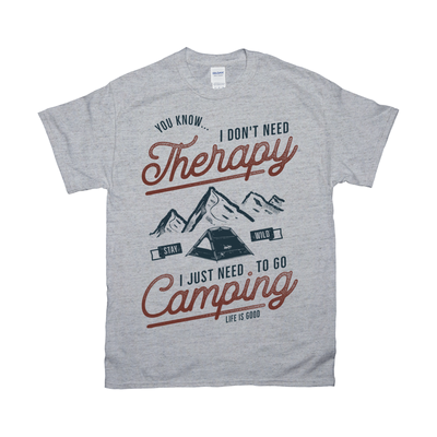 Just Need To Go Camping Retro Tee