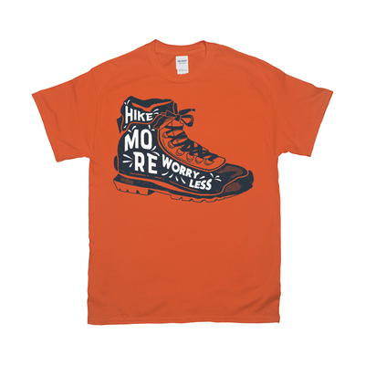 Hike More Worry Less Retro Tee