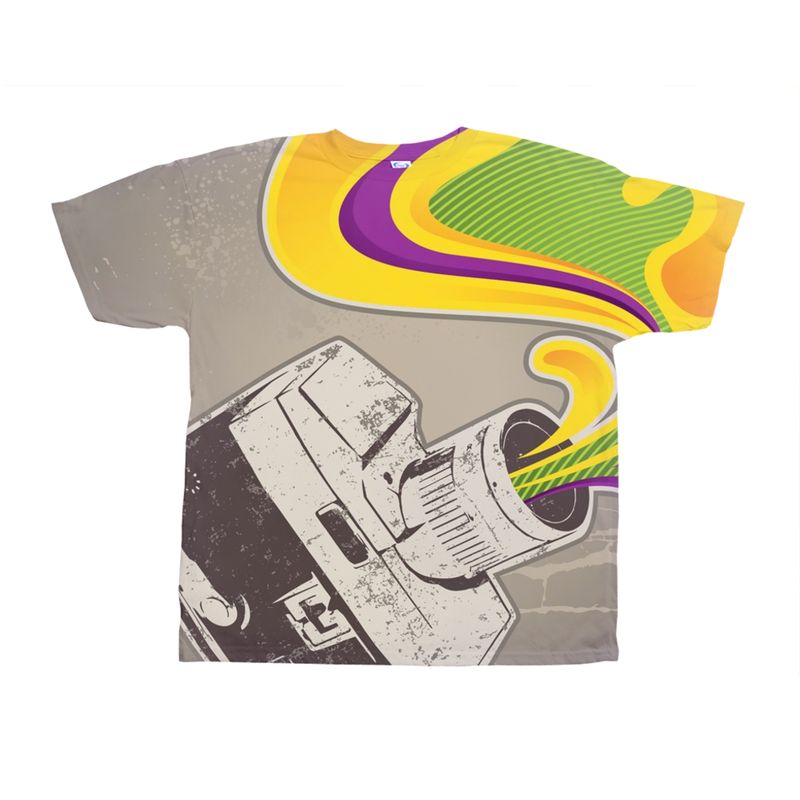 Retro Camera Abstract Tee