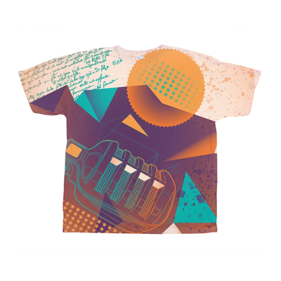 Retro Microphone Abstract Tee