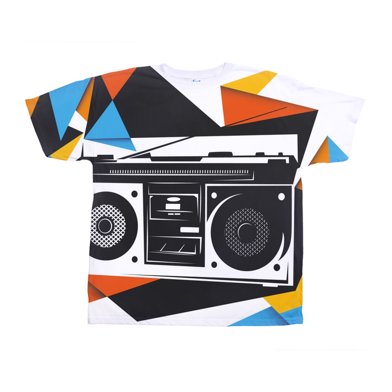 Retro Boombox Abstract Tee