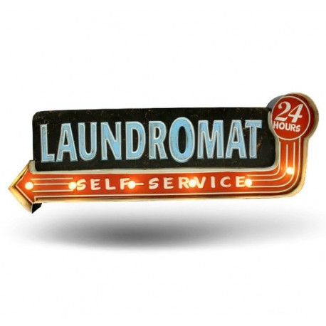 Laundromat LED Sign