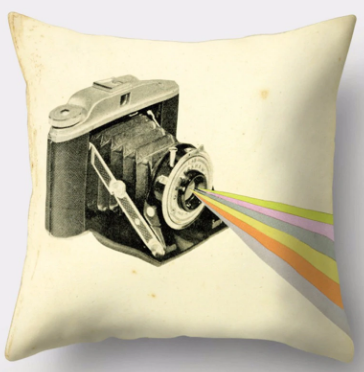 Color Vintage Camera Pillowcase