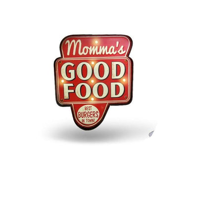 Momma's Good Food LED Sign