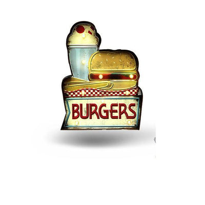 Burger and Fry LED Sign