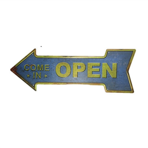 Open Arrow Sign