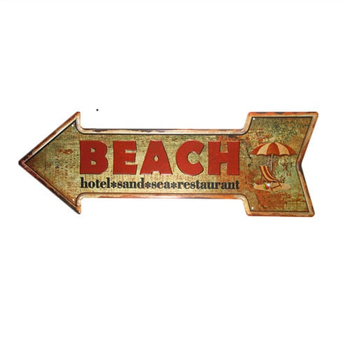 Beach Arrow Sign