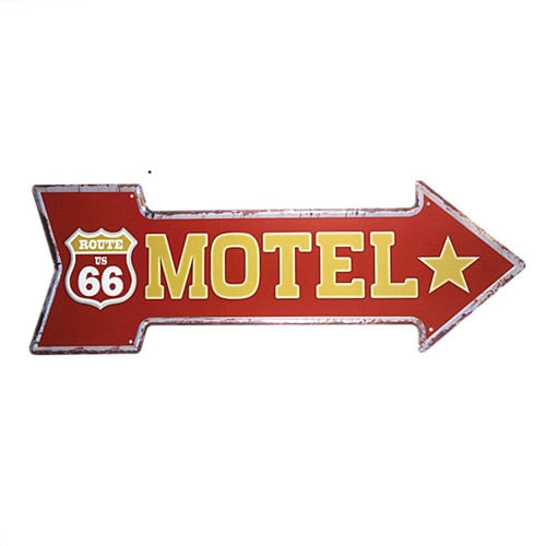 Motel Arrow Sign