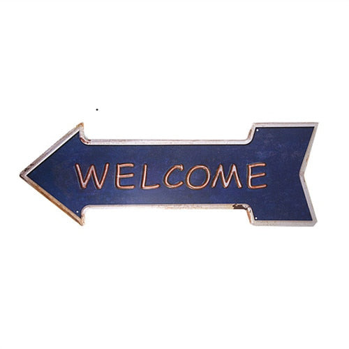 Welcome Arrow Sign