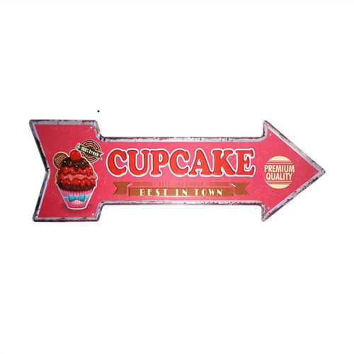 Cupcake Arrow Sign