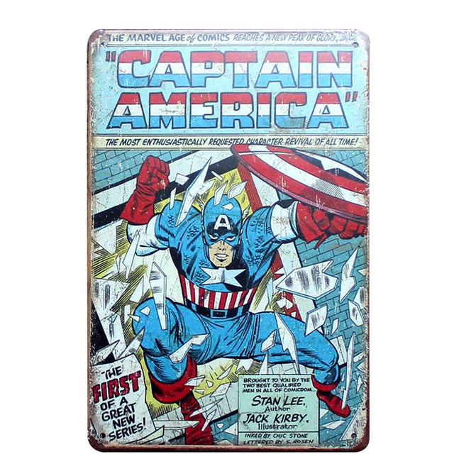 Captain America Vintage Sign