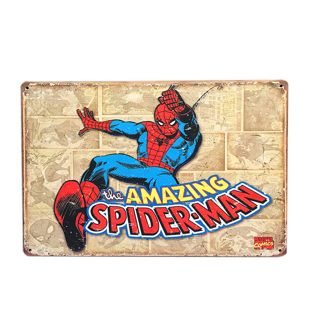 Spider Man Vintage Sign