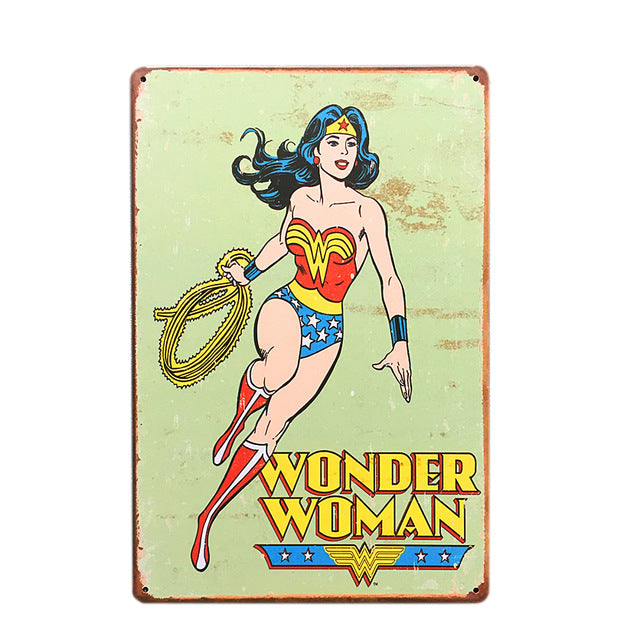Wonder Woman Vintage Sign