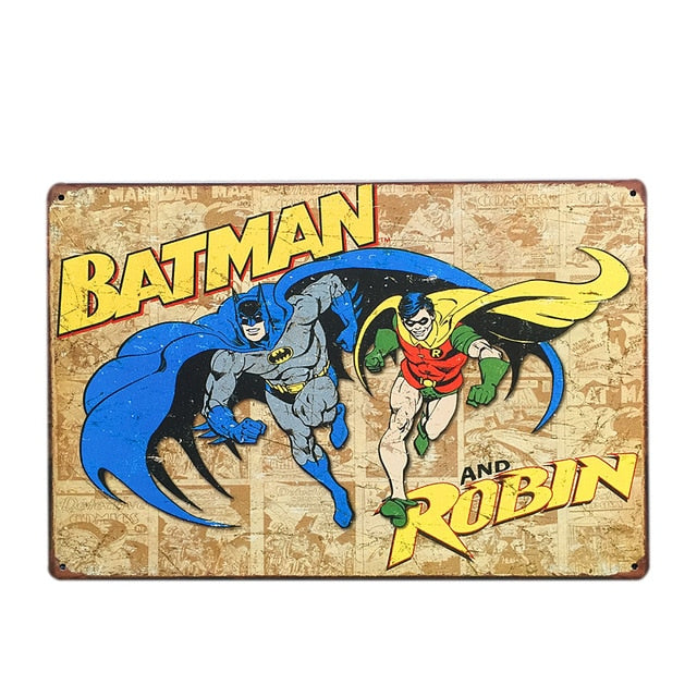 Batman and Robin Vintage Sign