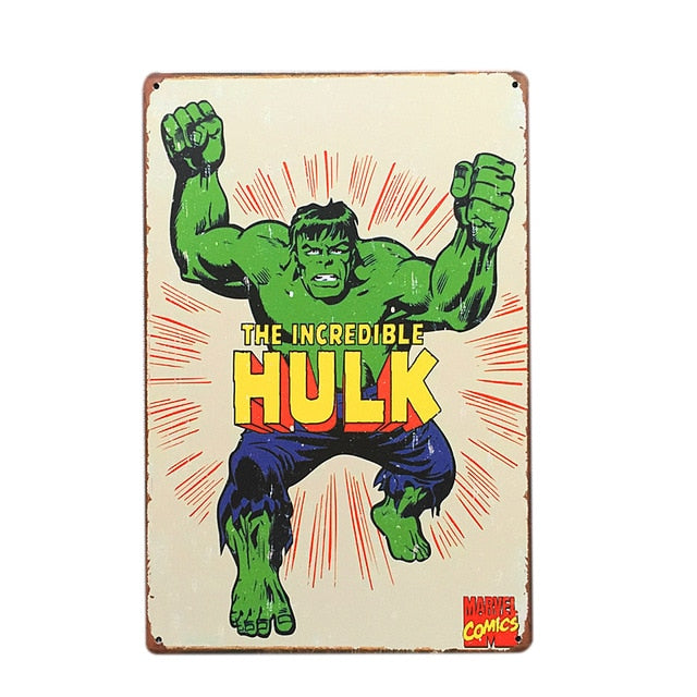 Incredible Hulk Vintage Sign