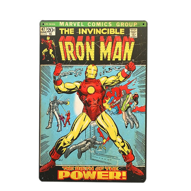 Iron Man Vintage Sign