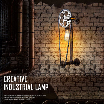 Chain Bicycle Wall Light