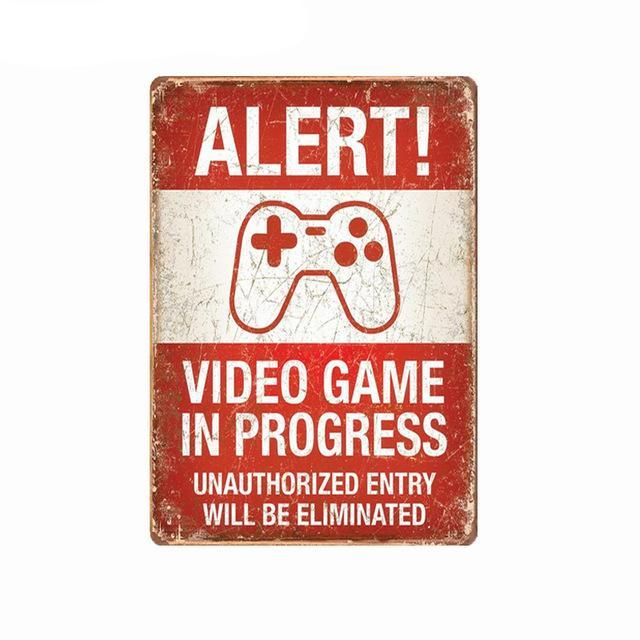 Alert Gaming Sign