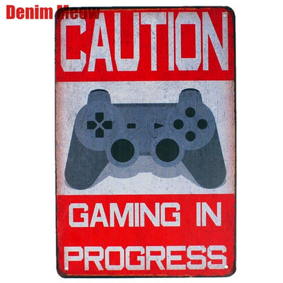 Caution Gaming In Progress Sign
